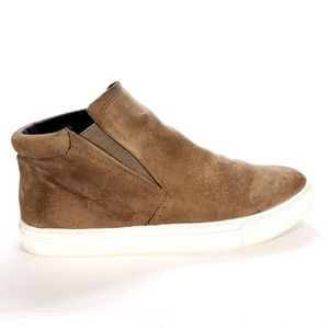 Kenneth Cole Tan Suede High Top Sneakers